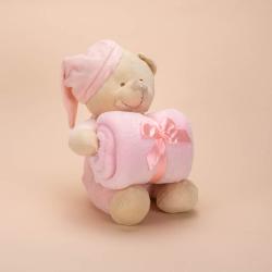 TEDDY BEAR WITH BABY BLANKET