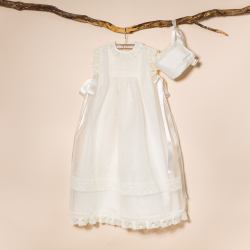 CHRISTENING GOWN PILA WITH BONNET