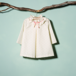 SMOCKED DRESS WITH PANTIES CARTA