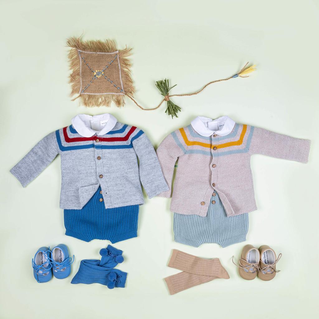 Precioso conjunto de niño formado por prendas de punto